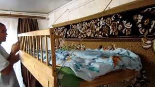 Семья Бровченко. Как сделать подвесную детскую кровать своими руками.(Из чего можно сделать детскую кровать. Детская подвесная кроватка своими руками. Делается из обычной крова..., 2014-06-20T22:42:26.000Z)
