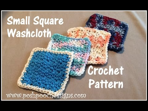 Small Square Washcloth Crochet Pattern Youtube