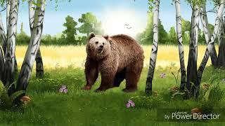 Голос и Звуки Животных леса России для малышей. Развивающий мультик.