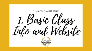1. Basic Class Info and Website
