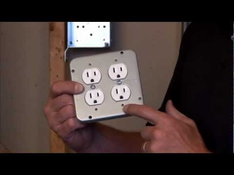 """Industrial Surface Cover:  4-11/16"""" Square, 1/2"""" Raised Two Duplex Receptacle Cover 72C39"""