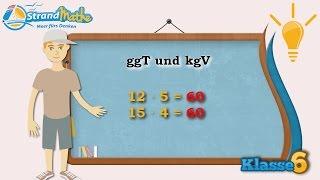 ggT und kgV  größter gemeinsamer Teiler || Klasse 6 ★ Wissen