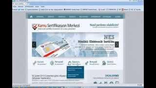 Döküman Yönetim Sistemi Ders 1 - Bireysel Nitelik Elektronik Sertifikayı Kullanıma Açma