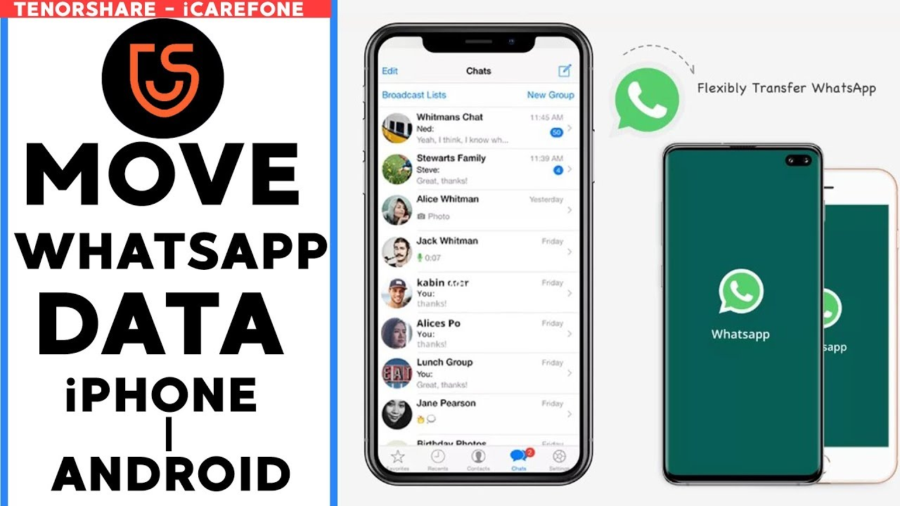 How To Transfer WhatsApp Data From iPhone To Android 👌