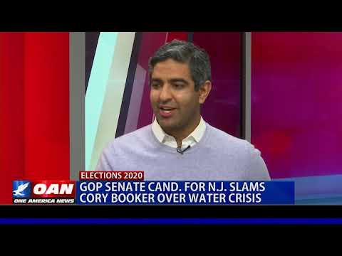 GOP Senate candidate for New Jersey slams Cory Booker over water crisis