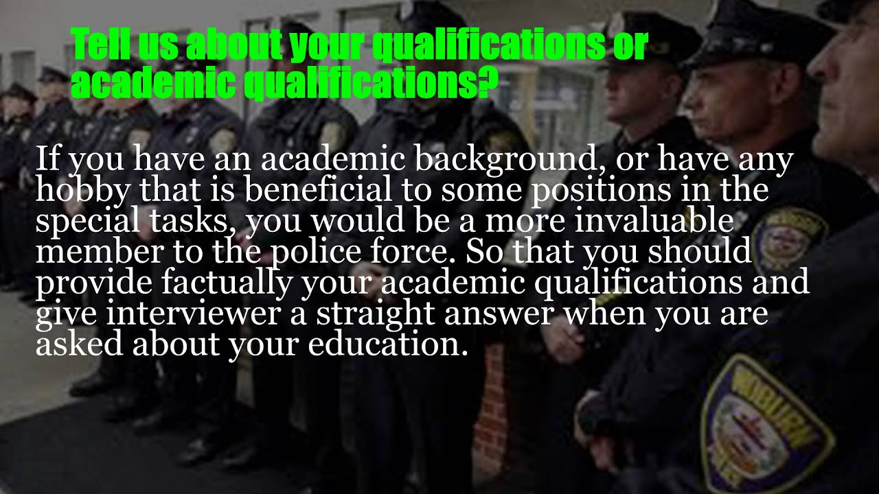 police executive interview questions