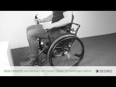 Lesson 02 - Wenden: Richtig Rolli-Fahren mit den Hebelrollstühlen radius und medius