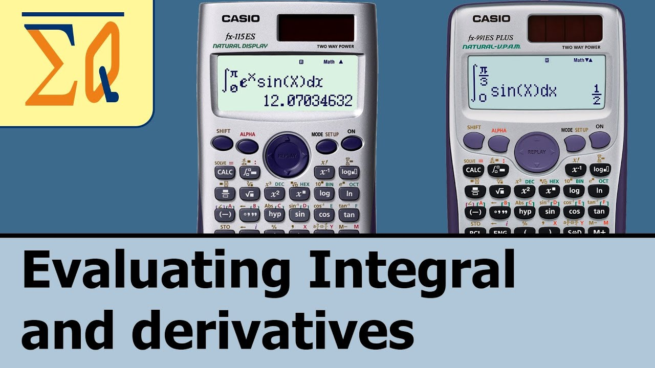 Casio Fx-115es Fx-991es Plus Derivative and Integral - YouTube