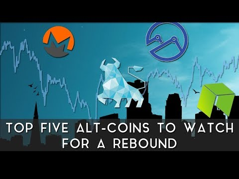 Top 5 Alt-Coins to Watch for a Rebound