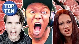 100% Non-GMO Celebrity Beef (Jake Paul, Onision, KSI, Woah Vicky & More) | Top Ten Daily