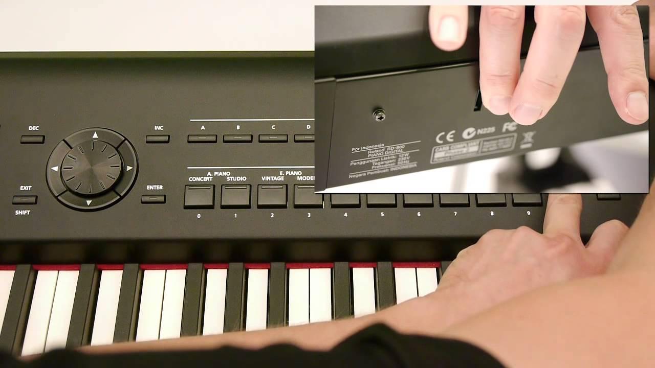 roland rd 800 stage piano update version installieren youtube. Black Bedroom Furniture Sets. Home Design Ideas