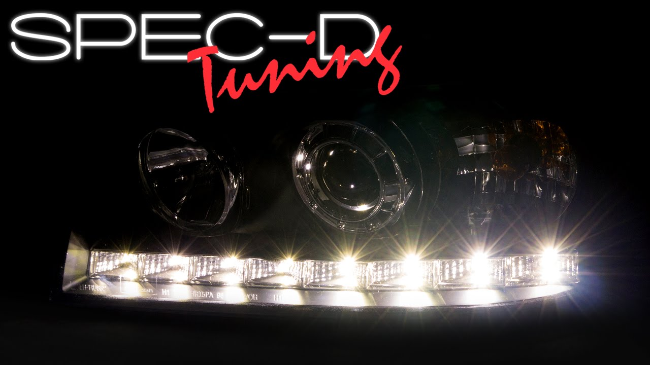 Specdtuning demo video 1998 2011 ford crown victoria led projector headlights