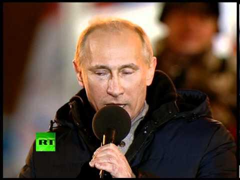 'Мы победили!' Путин со слезами на глазах на Манежной
