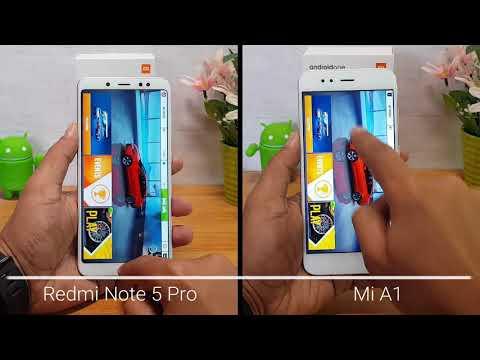Xiaomi Redmi Note 5 Pro vs Xiaomi Mi A1 Speedtest Comparison
