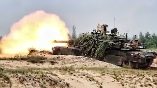 M1A2 Abrams Tanks • Bounding & Firing