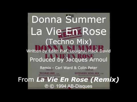 "Donna Summer - La Vie En Rose (Techno Mix) LYRICS - SHM ""La Vie En Rose"" 1994"