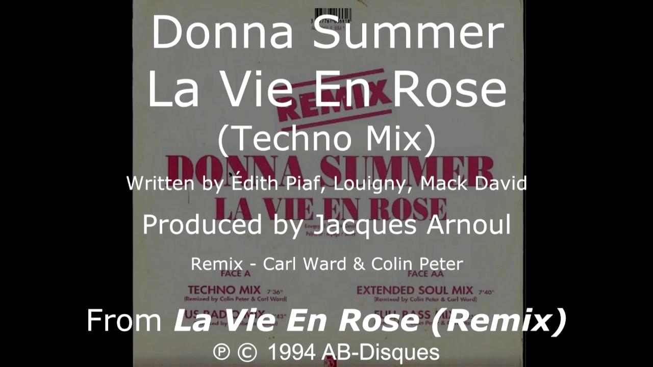 Donna Summer La Vie En Rose Techno Mix Lyrics Shm La Vie En