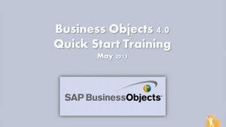 Business Objects Training Webcast