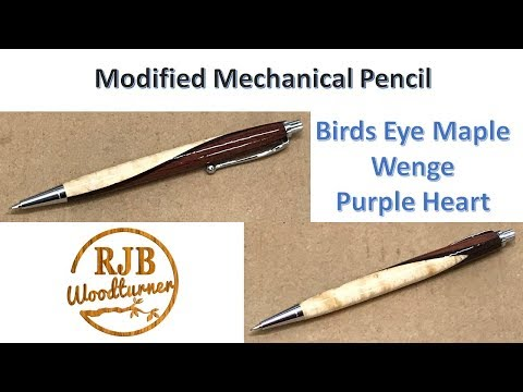 Modified Mechanical Pencil (Birds Eye Maple / Wenge / Purple Heart)