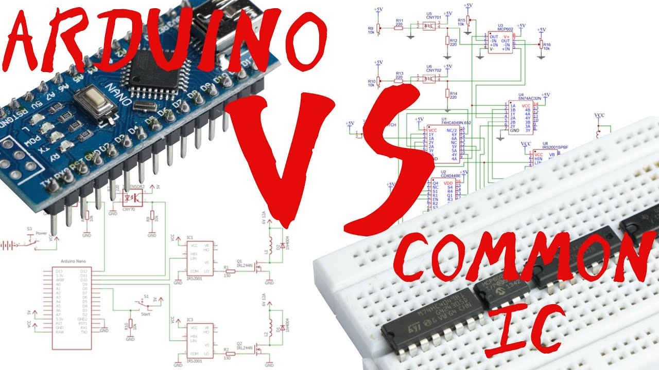 Arduino vs common ic without programming creating