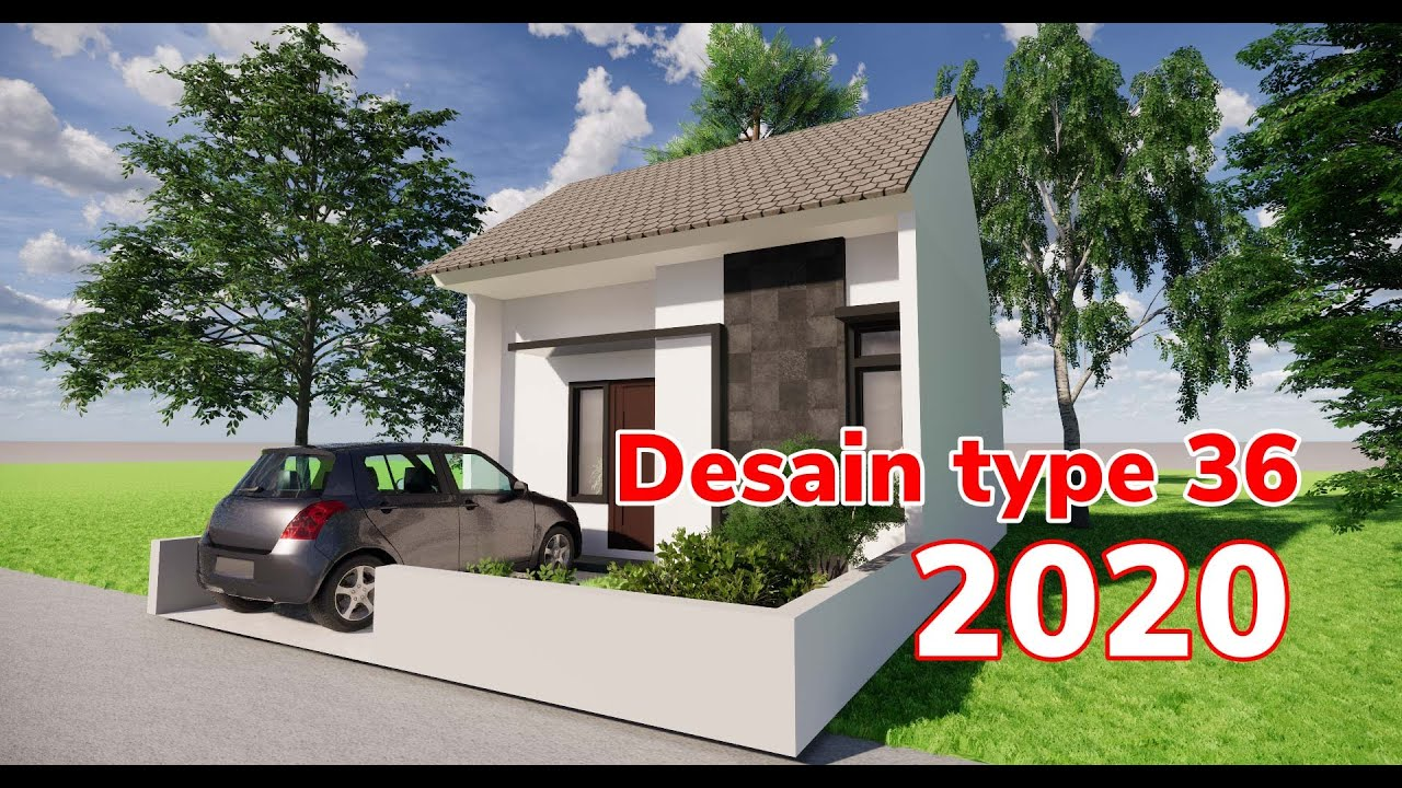 desain rumah type 36 minimalis 2020 - YouTube