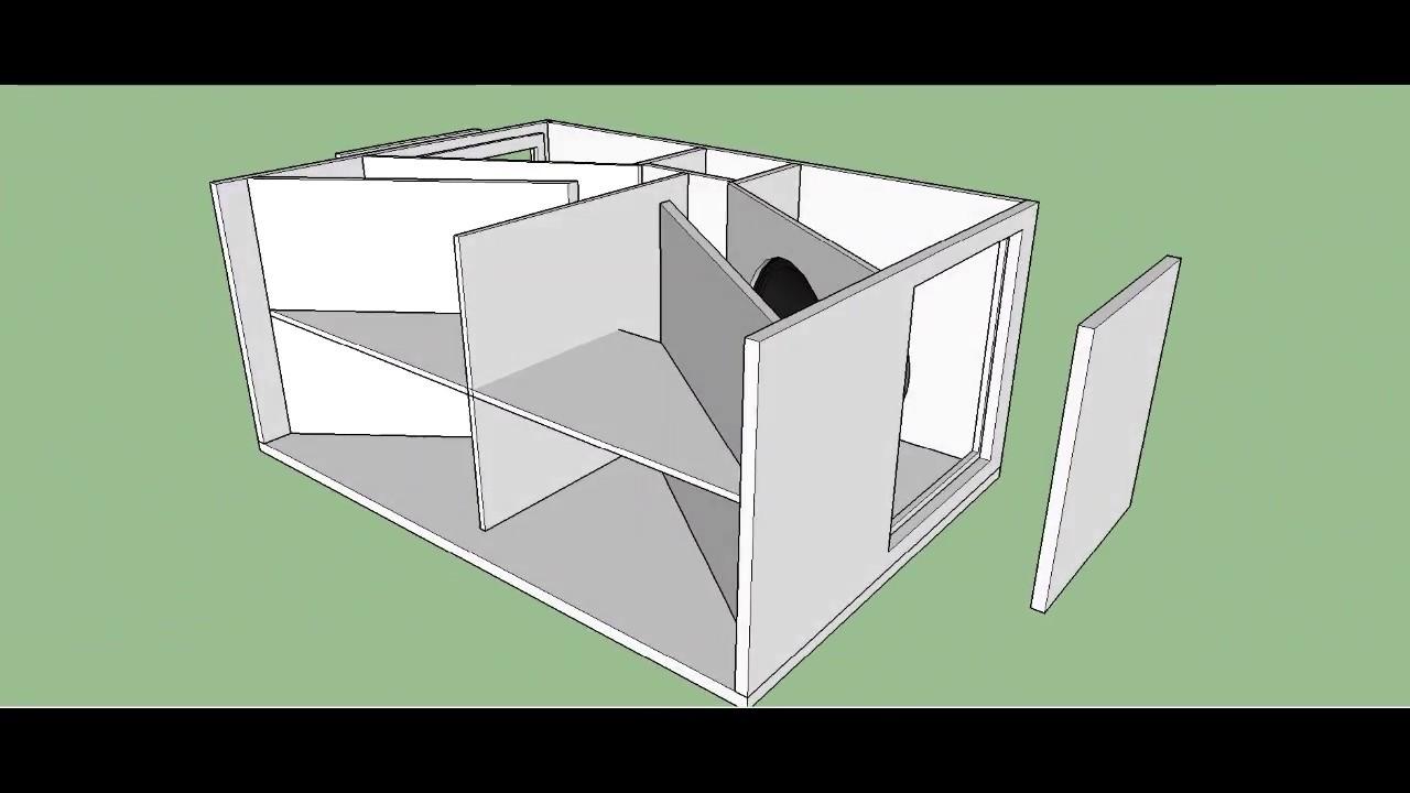 Dual Turbo Sound Subwoofer Hard KICKing Bass Bin Cabinet