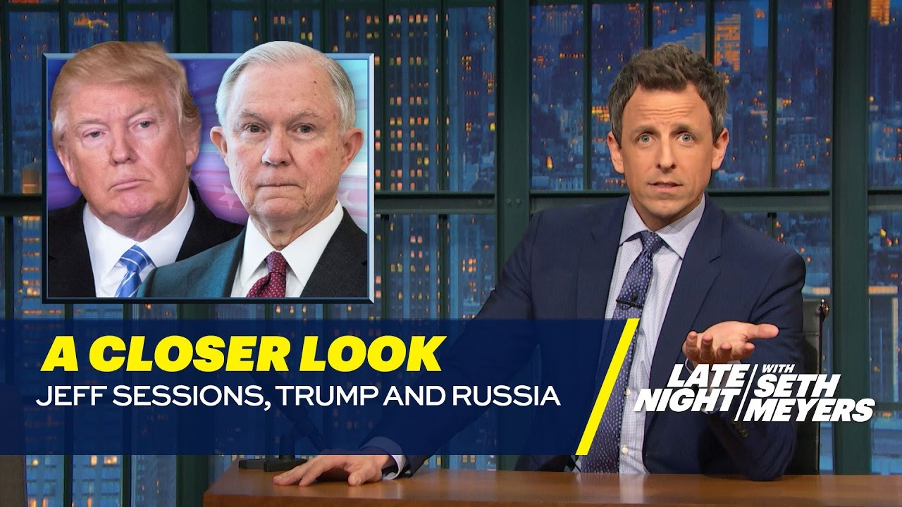 Image result for sessions trump russia seth meyers