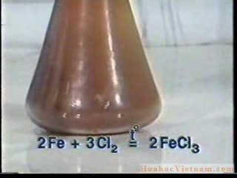 Phản ứng giữa Fe và Cl2 tạo thành FeCl3