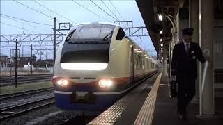 【JR東】信越本線 特急しらゆき1号 新潟行  直江津 Japan Niigata JR Shin'etsu Line Trains