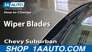 How To Change Replace Wiper Blades 2000-06 Chevy Suburban and Tahoe