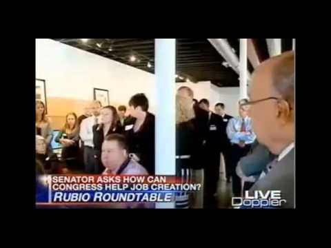 Marco Rubio participating in a Jacksonville Small Business Roundtable