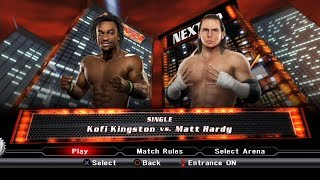 WWE SmackDown VS Raw 2009 PS3 Gameplay - Kofi Kingston VS Matt Hardy [60FPS][FullHD]