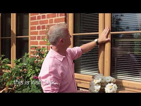 Irish Oak and Coloured uPVC Windows from Abbey Windows, Reading Silent