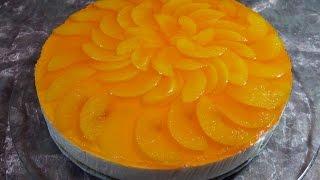 Йогуртовый торт с персиками (без выпечки) / Пошаговый рецепт