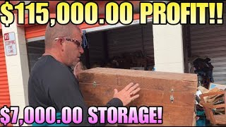 $115,000.00 PROFIT IN $7,000.00 STORAGE UNIT! I bought an abandoned storage unit