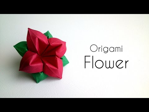 Origami Flower: Paper Flower with 4 Petals.