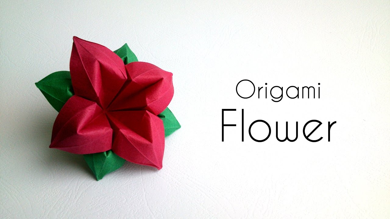 Origami flower paper flower with 4 petals youtube origami flower paper flower with 4 petals mightylinksfo