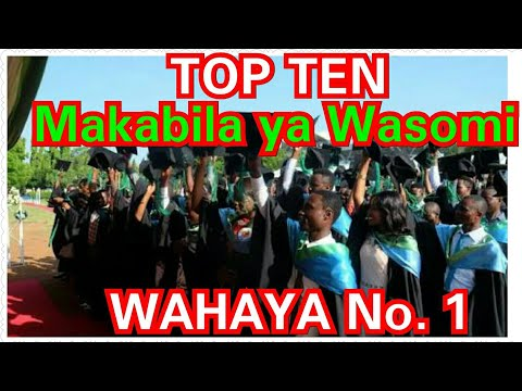 MAKABILA YENYE WASOMI WENGI TANZANIA