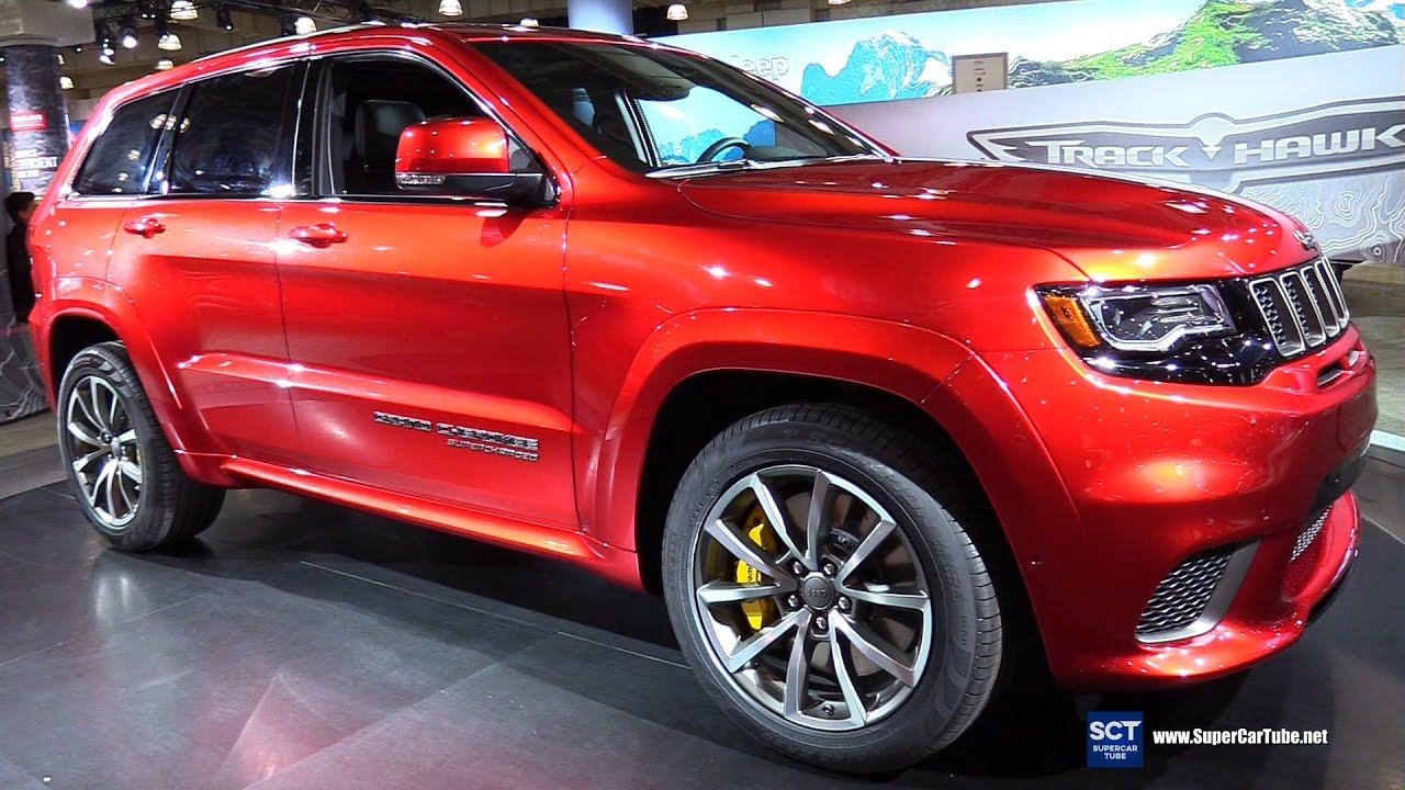 2018 Jeep Grand Cherokee Trackhawk Exterior Interior Walkaround Debut 2017 New York Auto Show