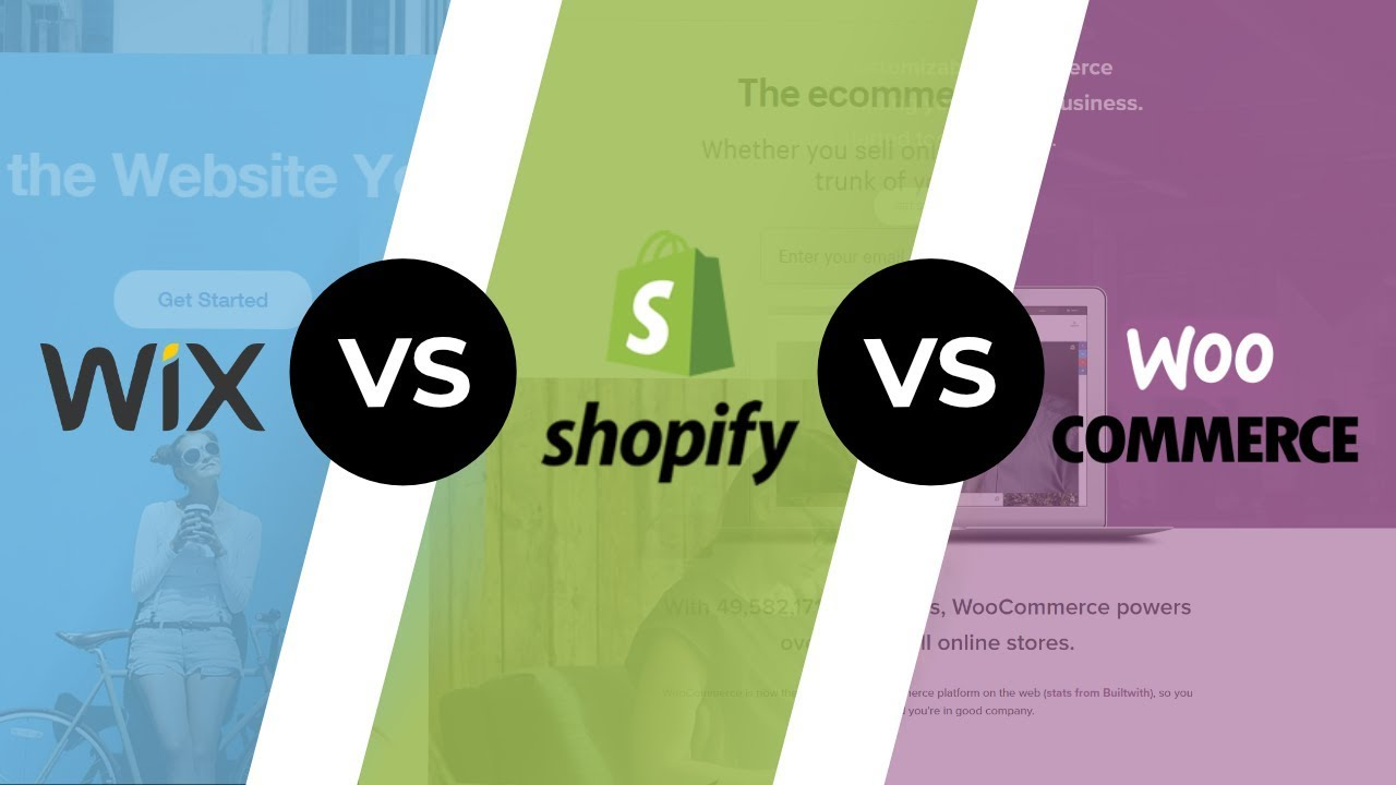 wix vs shopify vs woocommerce  top ecommerce platforms in