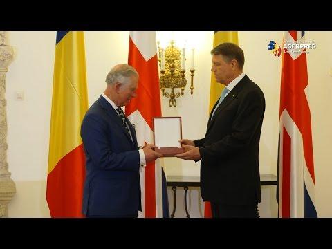 """Prințul de Wales, decorat de Klaus Iohannis cu Ordinul Național """"Steaua României"""""""