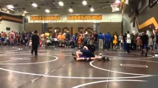 Addison Bliss Wrestling 11-16-13 match 2