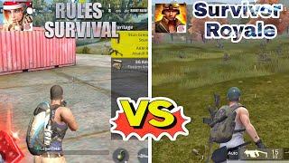 RULES OF SURVIVAL vs SURVIVOR ROYALE || Battle Royale Comparison