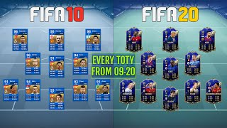 Every TEAM OF THE YEAR from FIFA 09 to FIFA 20 (TOTY) 😱🔥