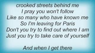 Rufus Wainwright - Leaving For Paris No. 2 Lyrics