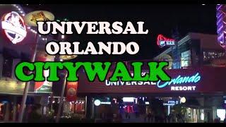 (HD) Universal Citywalk Orlando
