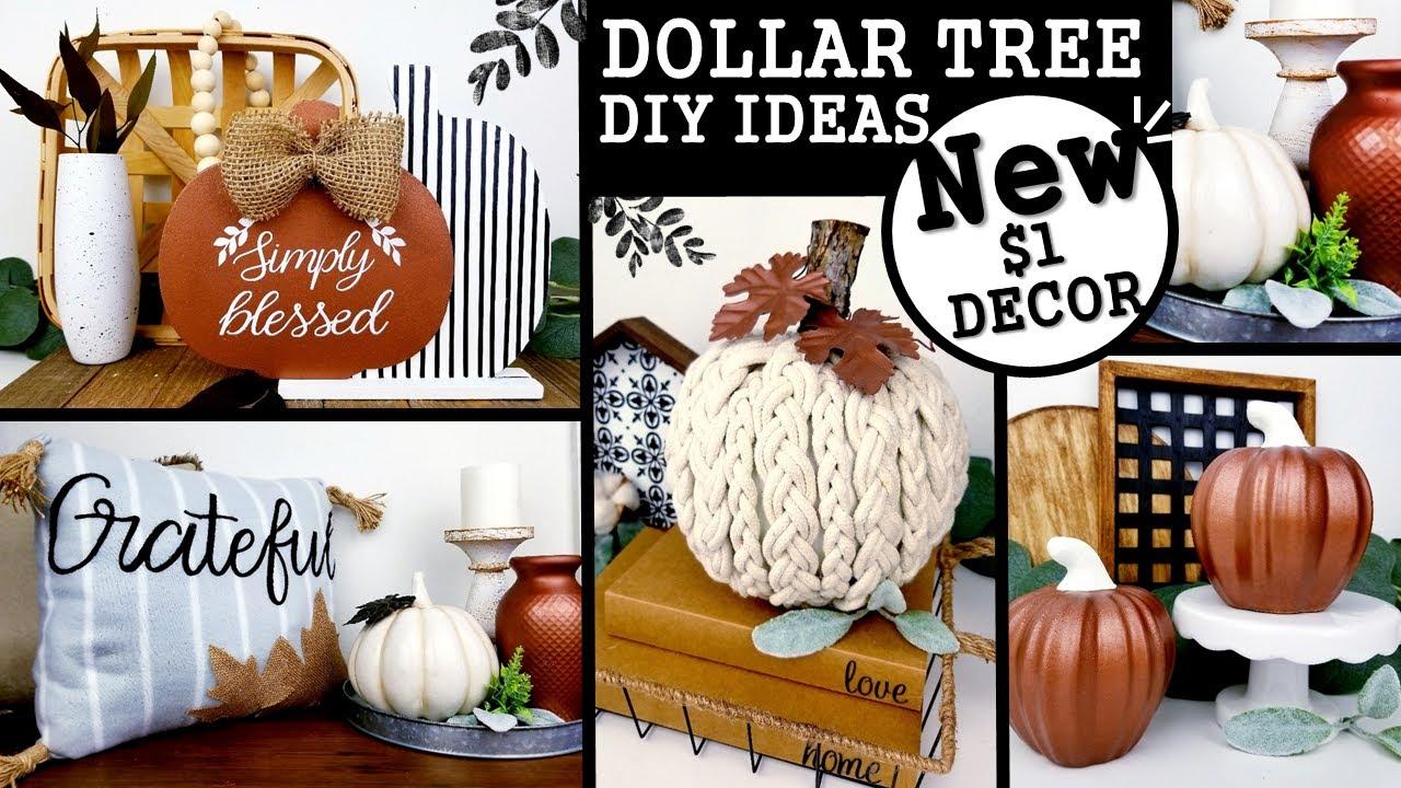 $1 HIGH END FALL DIY'S | DOLLAR TREE FALL DIY'S | MODERN FARMHOUSE DECOR IDEAS