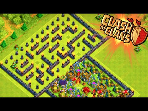 """""""the-maze-base!""""---clash-of-clans---weird-troll-base!-trolling-noobs-in-the-maze!"""