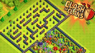 "Clash of Clans - ""THE MAZE BASE!"" WEIRD TROLL BASE! Trolling Noobs in the Maze!"