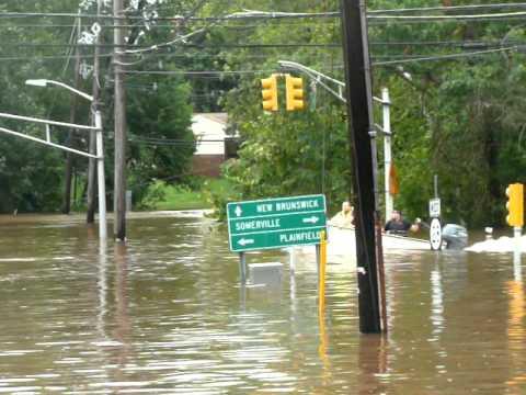 Middlesex, NJ Flooded from Hurricane Irene